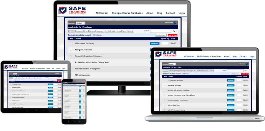 Online Safety Training Courses, Online Safety Training, OSHA safety training